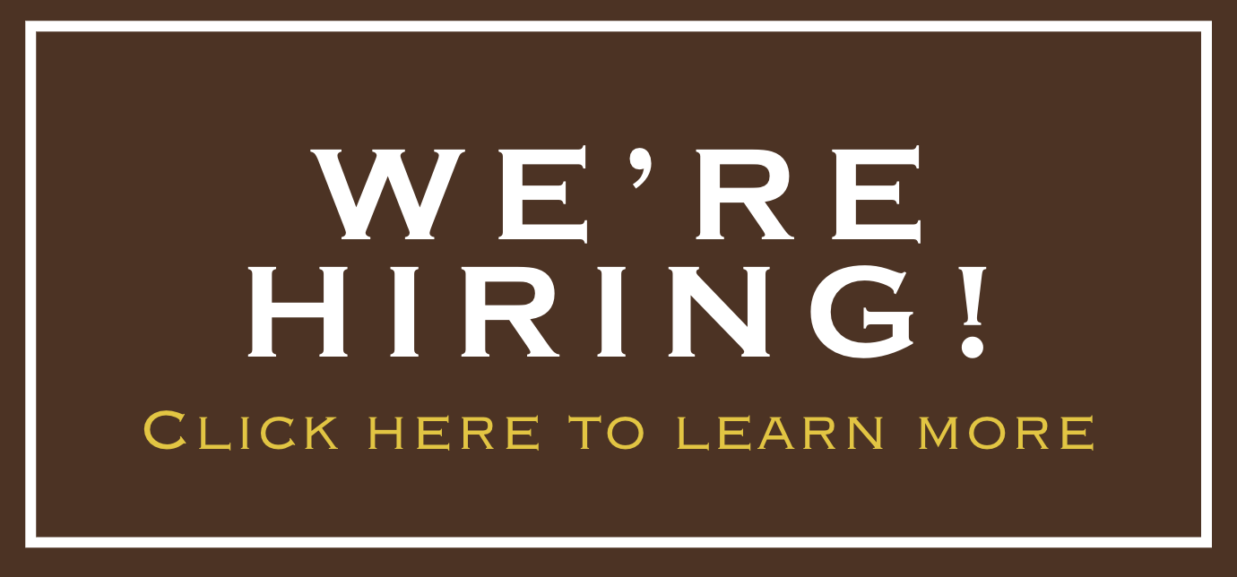 We're Hiring Click here to learn more